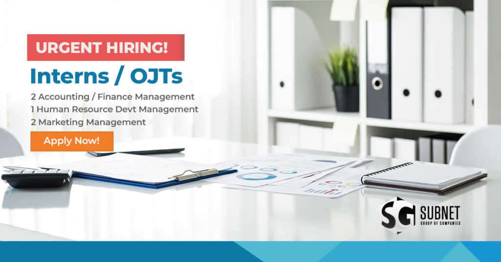 Hiring Interns and OJTs