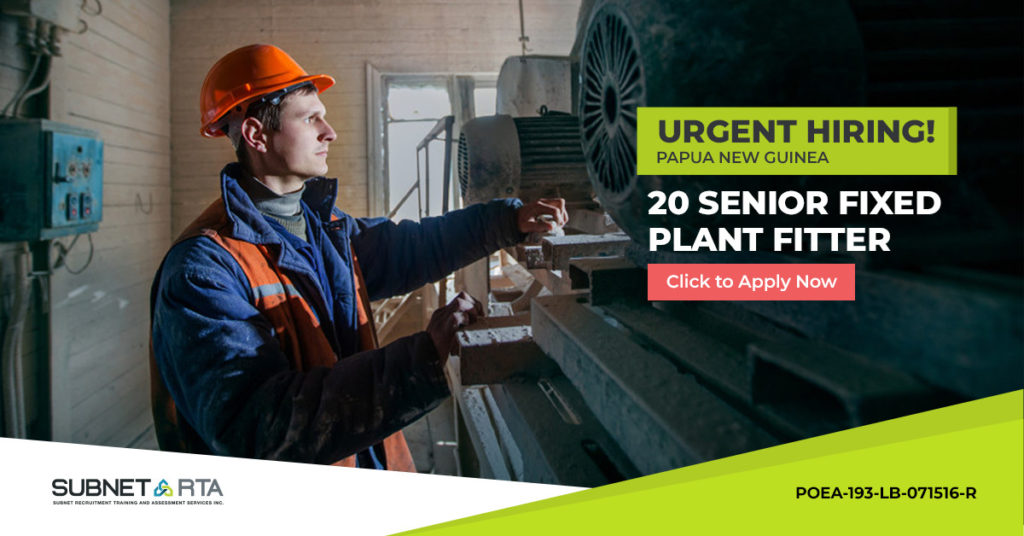 Senior Fixed Plant Fitter